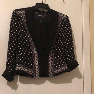 White House black market abstract silk blazer